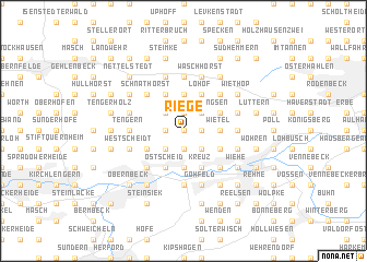 map of Riege