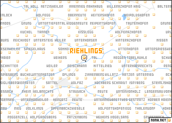 map of Riehlings