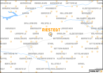 map of Riestedt