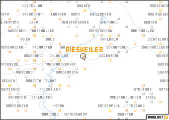 map of Riesweiler