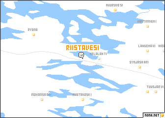 map of Riistavesi