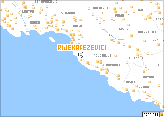rezevici crna gora mapa Rijeka Reževići (Serbia and Montenegro) map   nona.net rezevici crna gora mapa