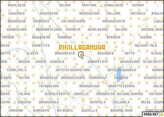 map of Rikillagamuwa