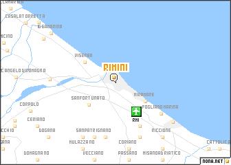 Rimini Italy Map Nona Net