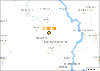 map of Rincon