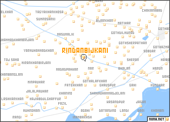map of Rindān Bijkāni