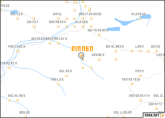 map of Rinnen