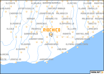map of Río Chico