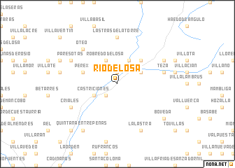 map of Río de Losa