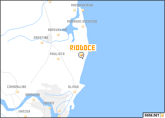 map of Rio Doce