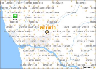 map of Rio Tinto