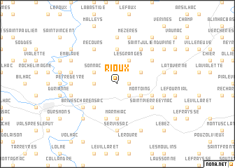 map of Rioux