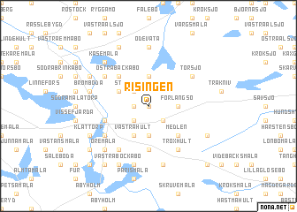 map of Risingen