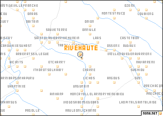 map of Rivehaute