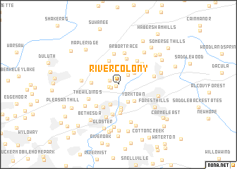 map of River Colony