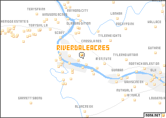 map of Riverdale Acres