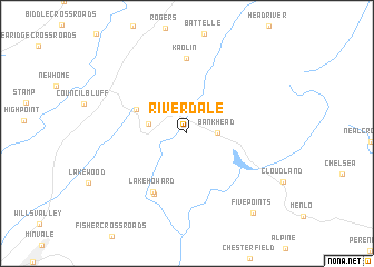 map of Riverdale