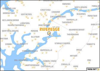 map of River Edge
