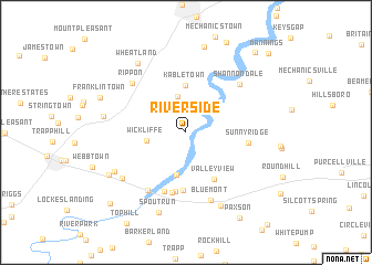 map of Riverside