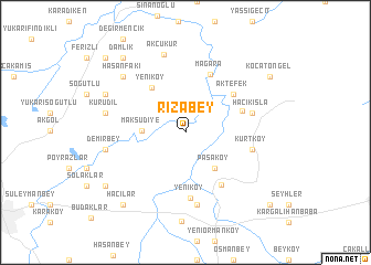 map of Rızabey