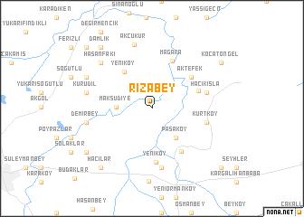 map of Rızabey