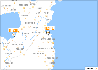 map of Rizal