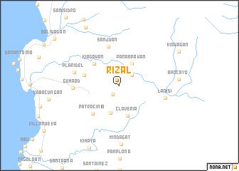 map of Rizal