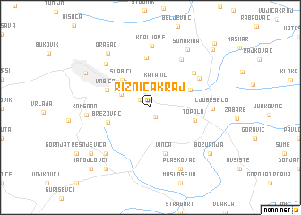 map of Riznica Kraj