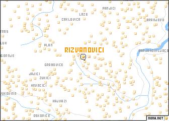 map of Rizvanovići