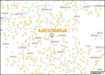 map of Rječica Donja