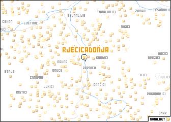 map of Rječica Donja