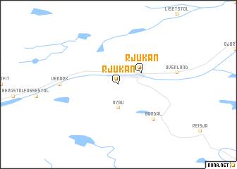 map of Rjukan
