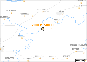 map of Robertsville