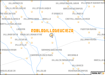 map of Robladillo de Ucieza