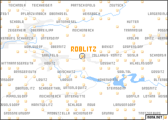 map of Röblitz