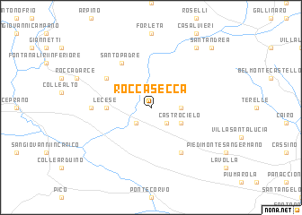 map of Roccasecca