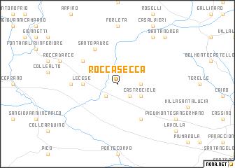 map of Roccasecca