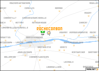map of Rochecorbon