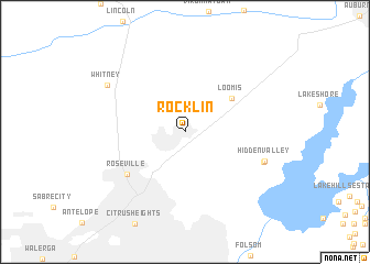 map of Rocklin