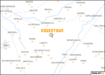 map of Rodentown