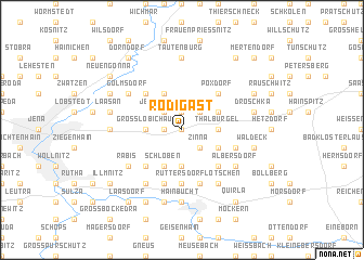 map of Rodigast