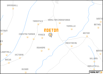 map of Roeton