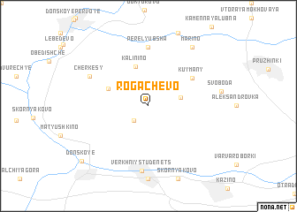 map of Rogachëvo