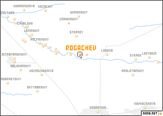 map of Rogachëv