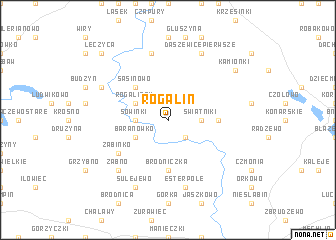 map of Rogalin