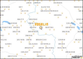 map of Rogalin