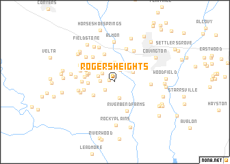 map of Rogers Heights