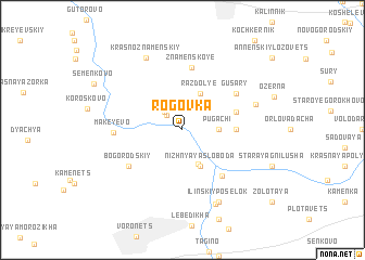 map of Rogovka