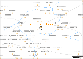 map of Rogożyn Stary