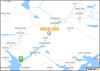 map of Rogsland
